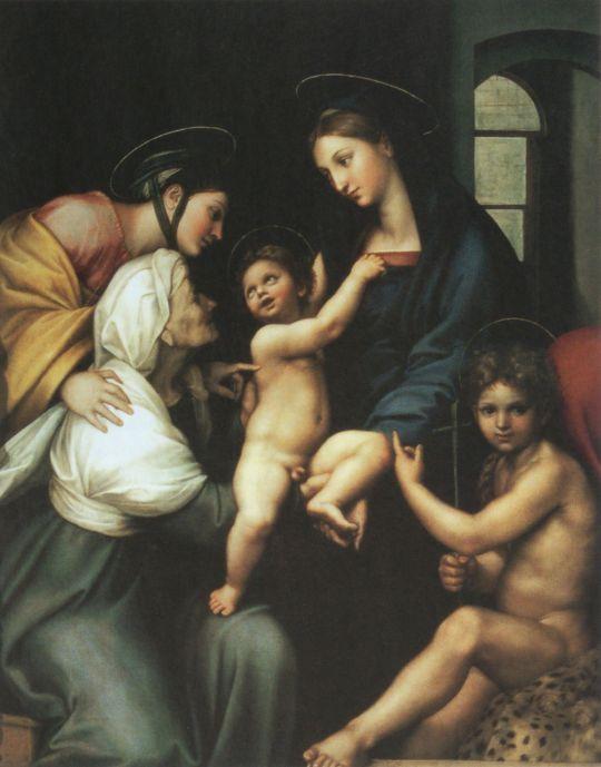 Мадонна с младенцем и св. Иоанном Крестителем, св. Елизаветой и св. Екатериной