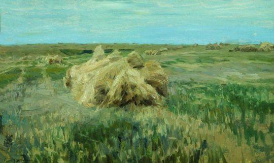 Скирды в поле
