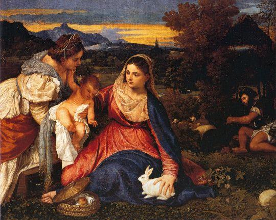 Мадонна с кроликом