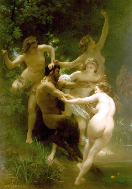 Нимфы и сатир