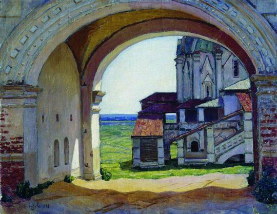 Коломенское. Ворота башни Часозвон.