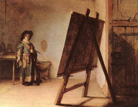 Художник в своей мастерской