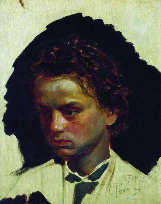 Портрет скульптора И.Я.Гинцбург в молодости. 1871