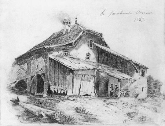 Сельский домик. 1863
