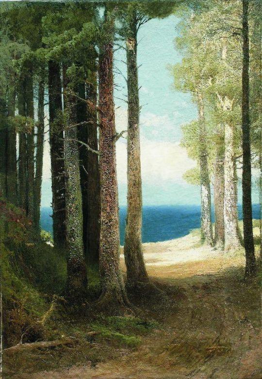 Сосны на берегу моря. 1887