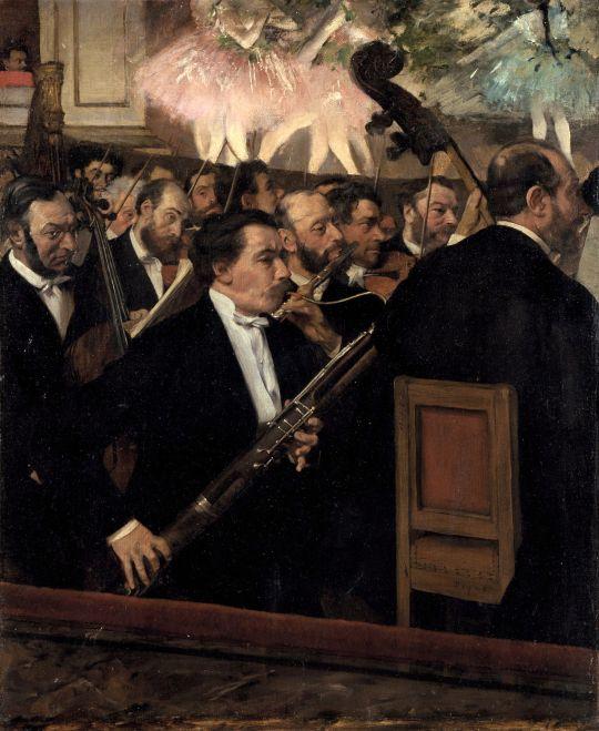 Оркестр в опере (ок.1870) (56 х 45) (Париж, музей Орсэ)