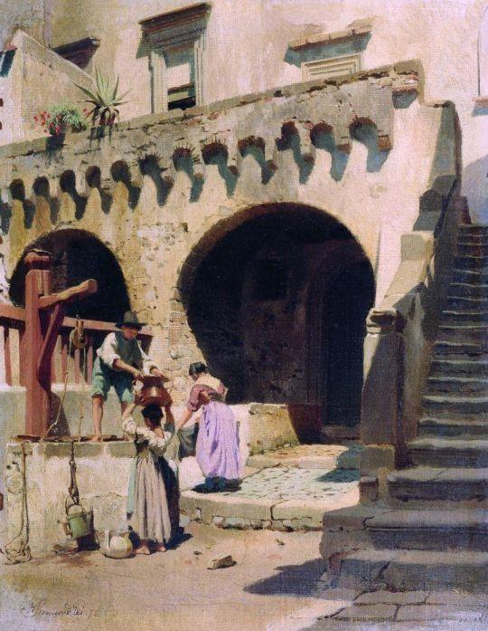 Итальянский дворик