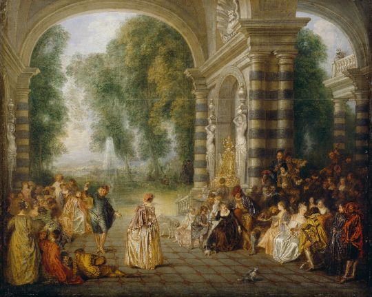 Великолепный бал (1715-1717) (52.5 х  65.2) (Лондон, Dulwich Picture Gallery)