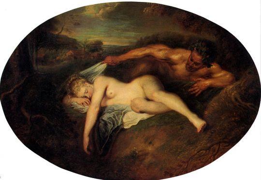 Юпитер и Антиопа (ок.1715-1716) (73 х 107) (Париж, Лувр)