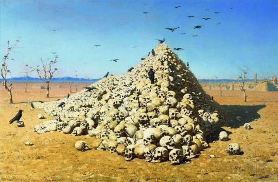 «Апофеоз войны», В.Верещагин, 1871