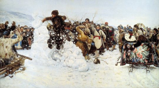 «Взятие снежного городка», В.Суриков