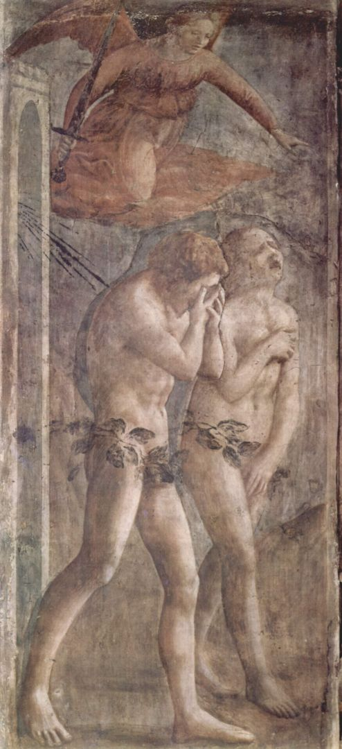 «Изгнание из Рая», Мазаччо, 1425-1428,