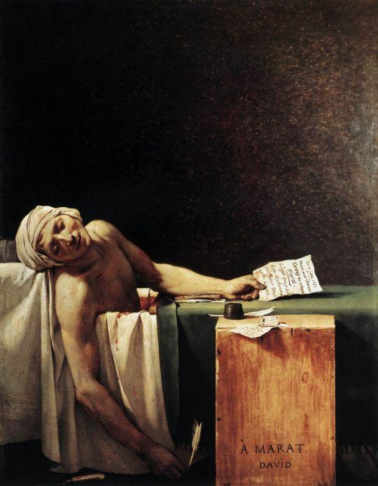 «Смерть Марата», Жак Луи Давид, 1793