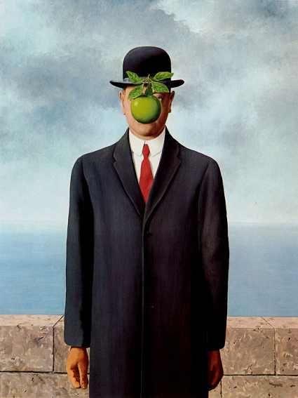 «Сын человеческий», Рене Магритт, 1964