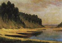 Лесистый берег реки Москвы
