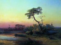 Пейзаж с сосной