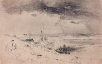 Старый погост на берегу Волги