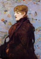 Осенняя, портреты Мери Лоран в коричневой меховой накидке