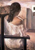 Молодая женщина увиденная со спины