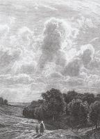 Облака над рощей.
