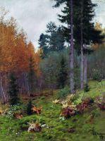В лесу осенью.