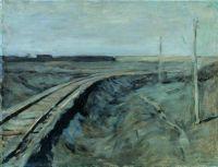 Полотно железной дороги.
