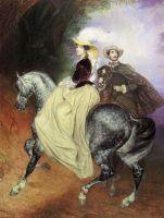 Всадники. Парный портрет Е.Мюссара и Э.Мюссар.