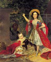 Портрет детей Волконских с арапом.