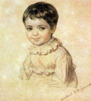 Портрет М.П.Кикиной в детстве.