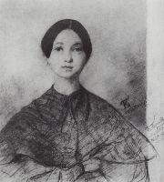 Портрет Ю.П.Соколовой, сестры художника.