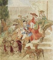Прогулка Людовика XV в детстве.
