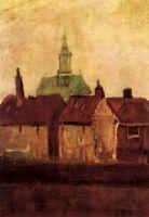 Старые дома и новая церковь в Гааге