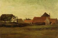 Фермерские домики в сумерках, Лоосдуинен близ Гааги
