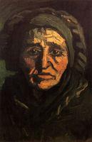 Портрет крестьянки в кружевном зеленоватом чепце