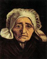 Портрет пожилой крестьянки в белом чепце