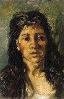 Портрет женщины с распущенными волосами