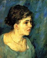 Портрет женщины в голубом