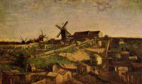 Вид Монмартра с ветряными мельницами