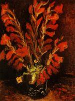 Ваза с Красным Гладиолусами
