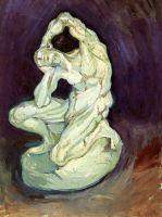 Гипсовая статуэтка мужчины на коленях
