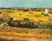 Урожай в Ла Кро, и Монмажор на заднем плане