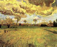 Пейзаж под грозовым небом