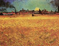 Закат, пшеничные поля близ Арля