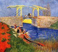Мост Ланглуа в Арле и стирающие женщины