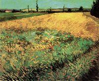 Пшеничное поле и предгорье Старых Альп на заднем плане