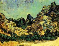 Горы в Сен-Реми с темным домом