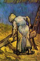 Крестьянка режущая солому