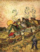 Домиками с соломенными крышами в лучах солнца (Воспоминание о Севере)