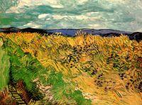 Пшеничное поле с васильками