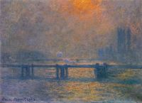Мост Черинг-кросс, отражение в Темзе